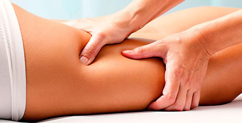 Massage des jambes anti-cellulite